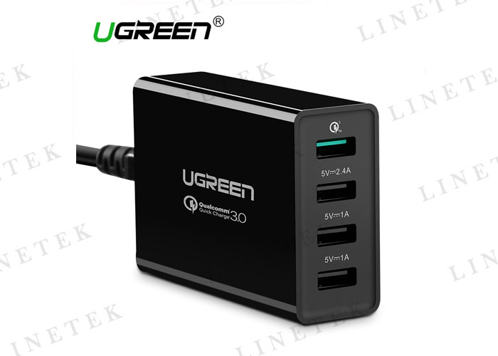 QC 3.0 Charger 34W 4-Port USB Wall Charger with Qualcomm Quick Charge 3.0